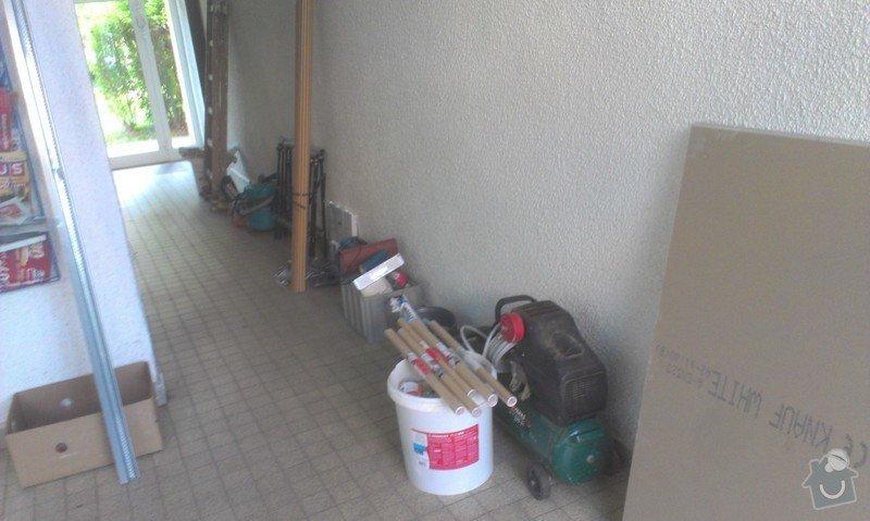 SPECHA! Sadrokarton, polepeni skrine folii, vymena zasuvek, instalace novych podlahovych list: IMAG2482