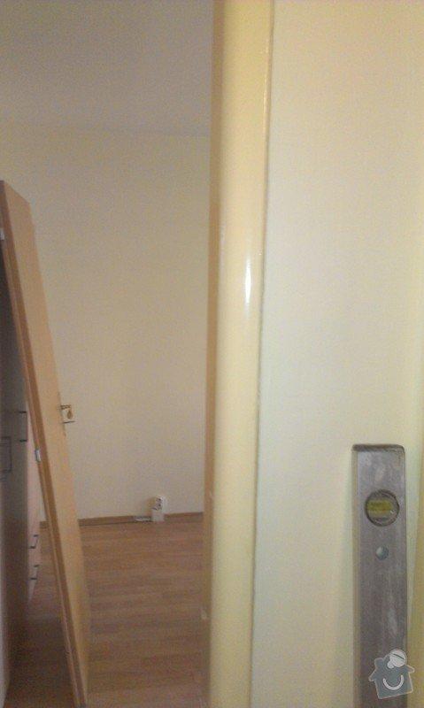 SPECHA! Sadrokarton, polepeni skrine folii, vymena zasuvek, instalace novych podlahovych list: IMAG2488