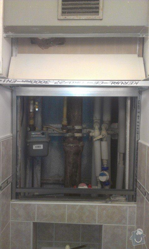 SPECHA! Sadrokarton, polepeni skrine folii, vymena zasuvek, instalace novych podlahovych list: IMAG2495