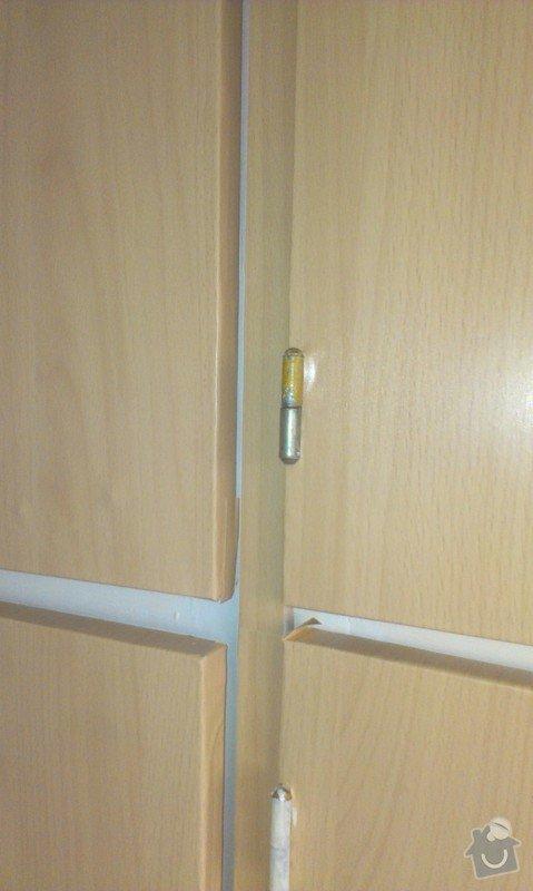 SPECHA! Sadrokarton, polepeni skrine folii, vymena zasuvek, instalace novych podlahovych list: IMAG2523