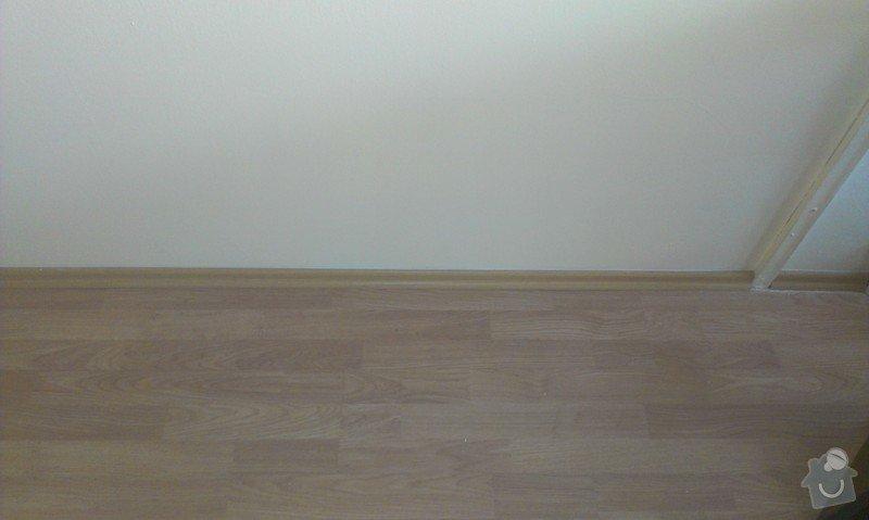 SPECHA! Sadrokarton, polepeni skrine folii, vymena zasuvek, instalace novych podlahovych list: IMAG2527