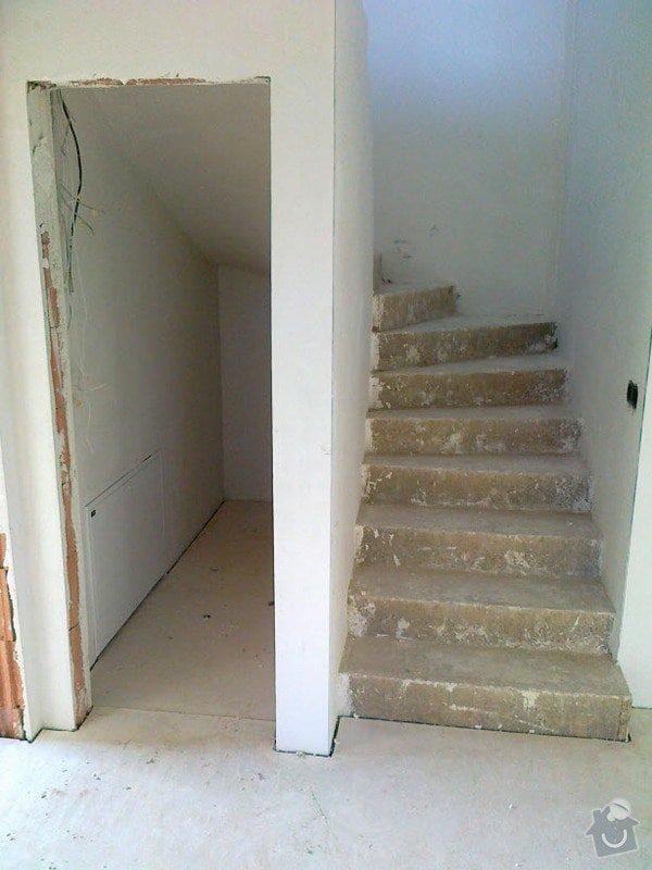 Zhotovení obkladu schodů a zábradlí: S1