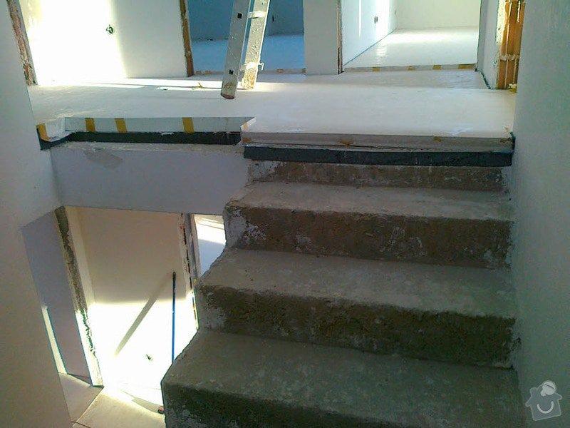 Zhotovení obkladu schodů a zábradlí: S2