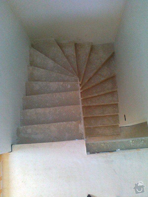 Zhotovení obkladu schodů a zábradlí: S3