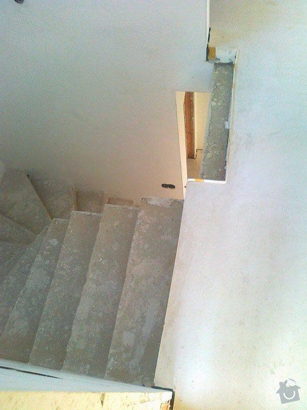 Zhotovení obkladu schodů a zábradlí: S4