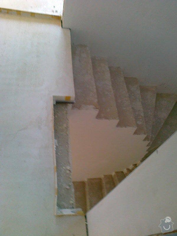 Zhotovení obkladu schodů a zábradlí: S5