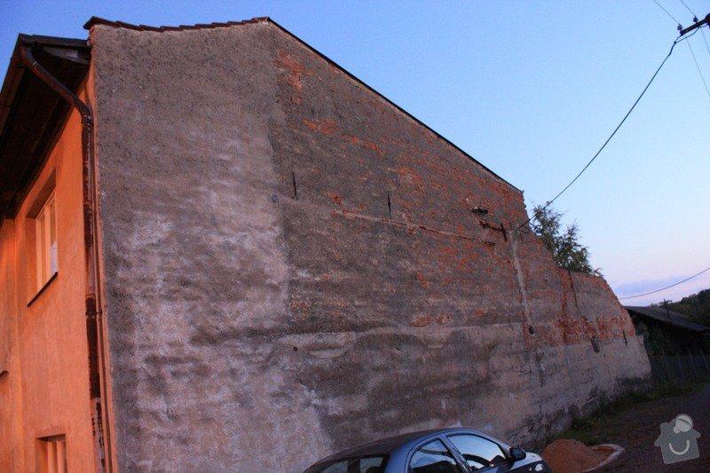 Nahození venkovni zdi 84m2 : SeverniObnazenaZed