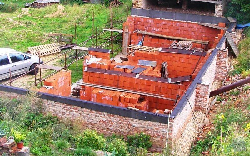 Dozdění a zastřešení rozestavění stavby: SANY0397