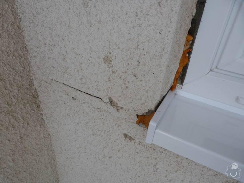 Renovace lodžie: detail-prasklina