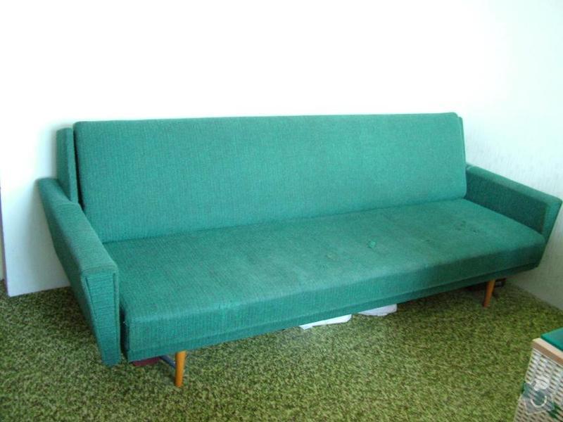 Přečalounění rozkládacího gauče ze 60. let: gauc