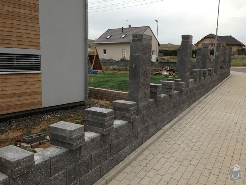 Drobne zednicke prace - dokonceni plotu: plot