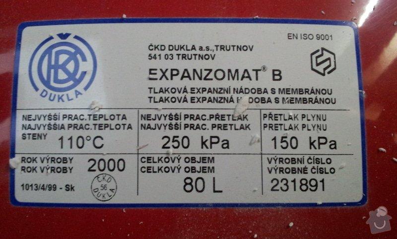 Přemístění expanzní nádoby ústředního topení: 20130827_135837