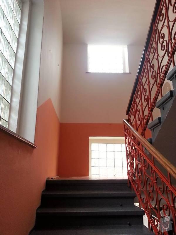 Výmalba schodiště a chodby: schodiste1