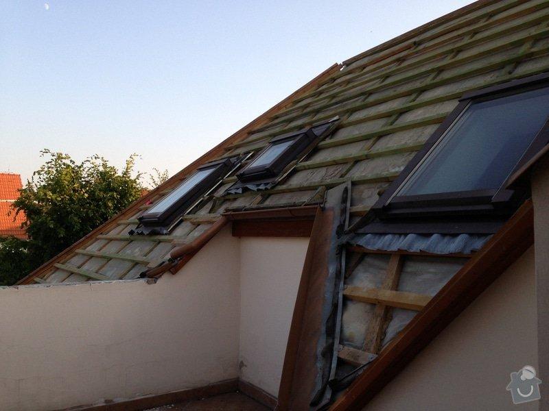 Výměna střešních oken, zateplení střechy, výměna střešní krytiny a klempířiny: IMG_1694
