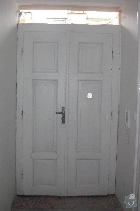 Výroba vstupních dveří: CIMG1612
