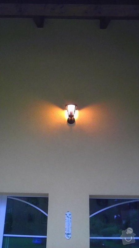 Instalace 3ks venkovních světel: IMAG2709