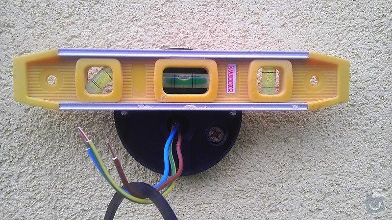 Instalace 3ks venkovních světel: IMAG2706
