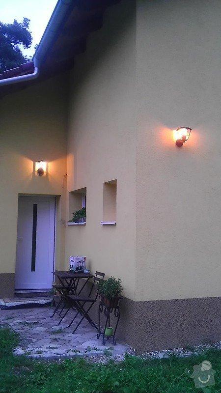 Instalace 3ks venkovních světel: IMAG2708