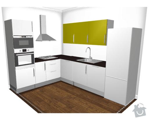 Instalace pracovní desky rohové kuchyňské linky se zafrézováním neviditelného spoje.: kuchyn