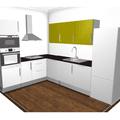 Instalace pracovni desky rohove kuchynske linky se zafrezovan kuchyn