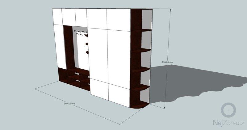 Výroba a montáž skříně a předsíňové stěny se šatní skříní na míru: predsin1