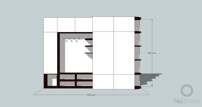 Výroba a montáž skříně a předsíňové stěny se šatní skříní na míru: predsin3