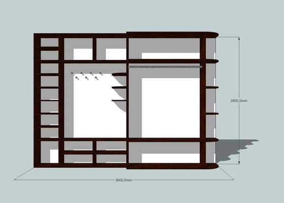 Výroba a montáž skříně a předsíňové stěny se šatní skříní na míru