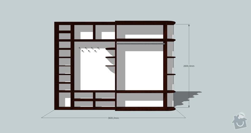 Výroba a montáž skříně a předsíňové stěny se šatní skříní na míru: predsin4