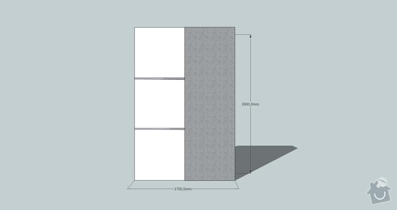 Výroba a montáž skříně a předsíňové stěny se šatní skříní na míru: skrin3