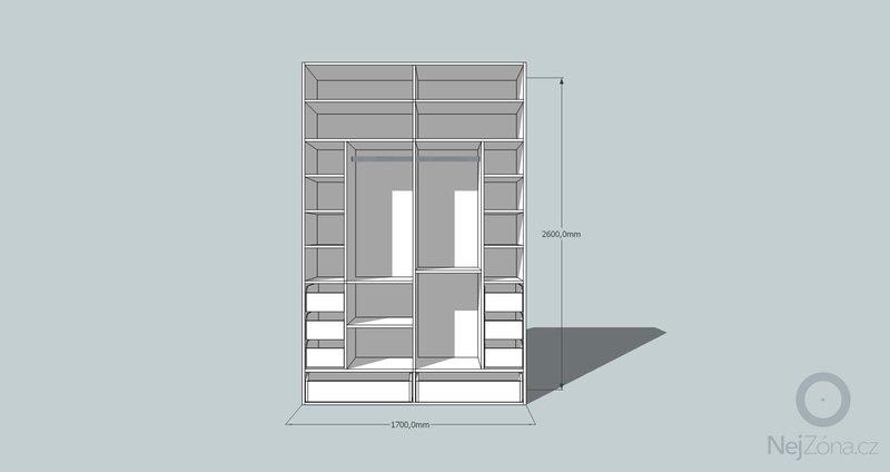 Výroba a montáž skříně a předsíňové stěny se šatní skříní na míru: skrin4