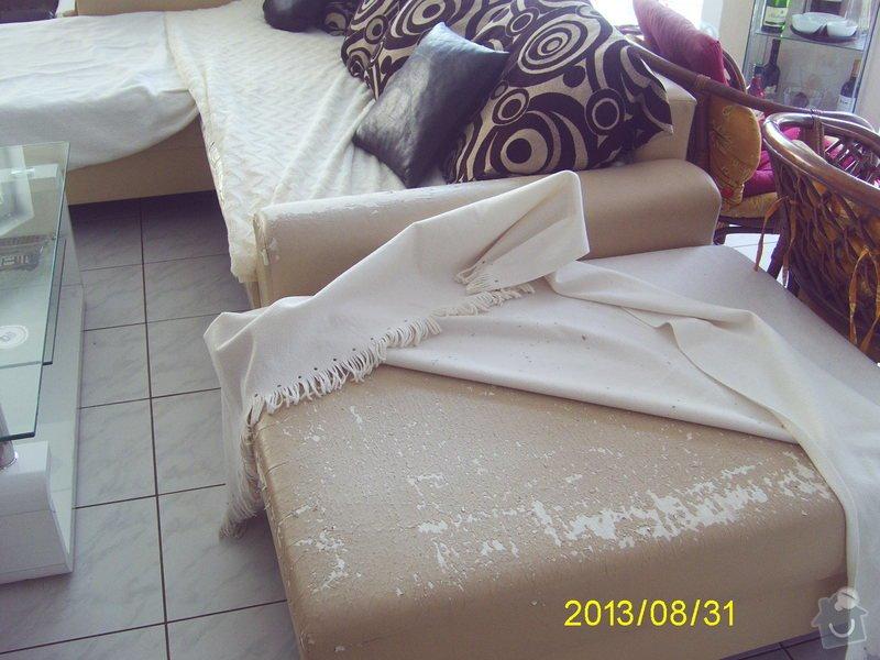 Oprava koženkové sedačky včetně taburetu: sedacka_002