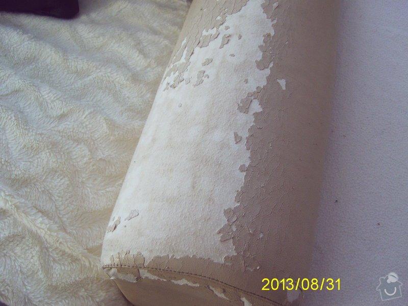 Oprava koženkové sedačky včetně taburetu: sedacka_004