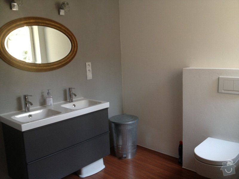 Rekonstrukce koupelny s betonovou sterkou na stenach: 499