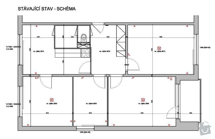 Rekonstrukce bytu: stavajici-dispozice