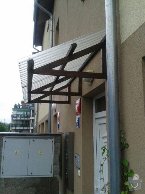 Výroba stříšky nad vchod do domu: Striska3