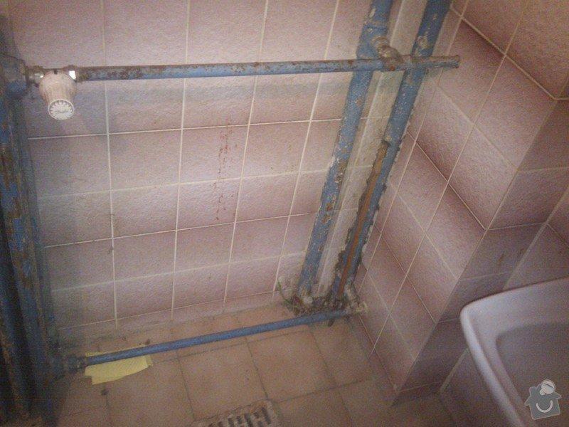 Topenářské práce : koupelna-stoupacky