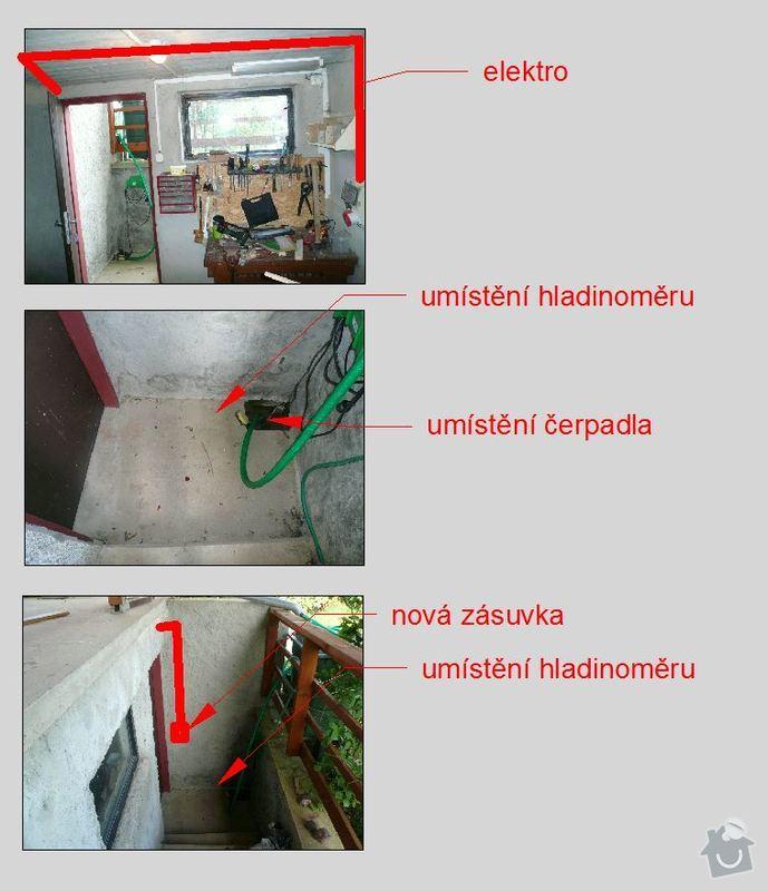 Eletroinstalace, elektronika, ovládání čerpadla: fotografie_mista