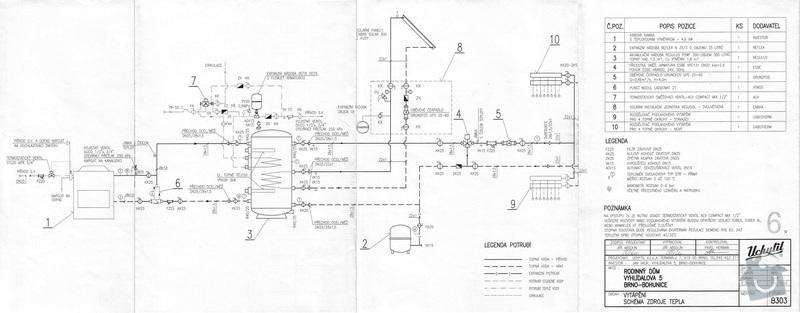 Instalace topného systému: B303