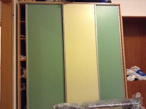 Zrcadlo na vestavěnou skříň: skrin