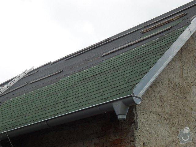 Pokrytí  1/2 střechy kanadskou šindelí: Strecha