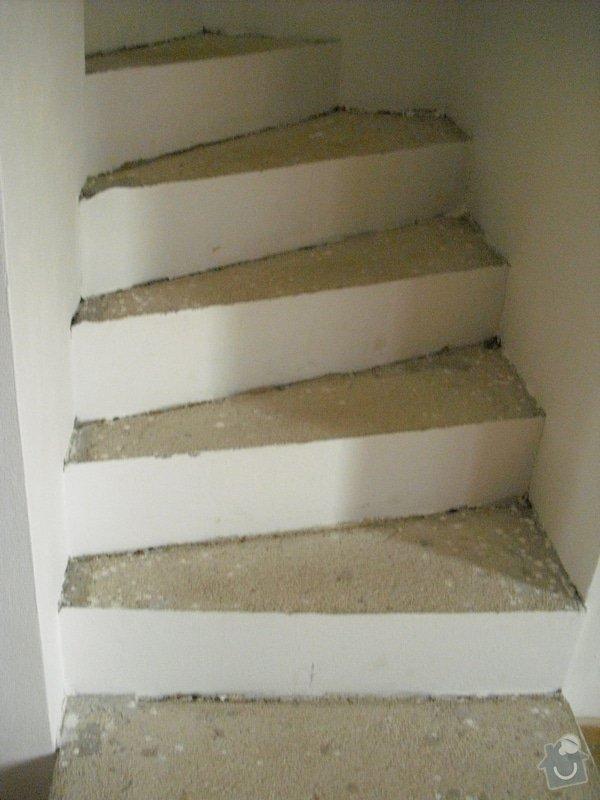 Obložení schodiště dlažbou: CIMG3501