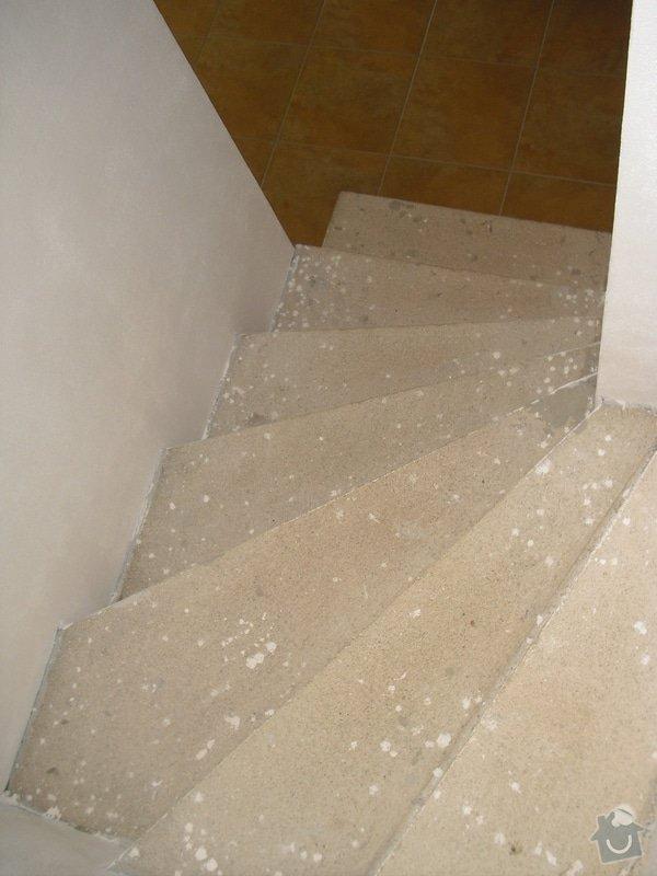 Obložení schodiště dlažbou: CIMG3506