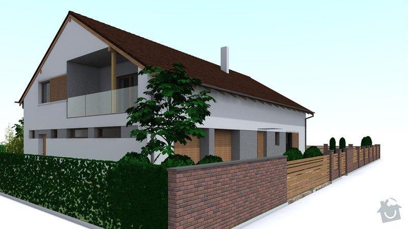 Dokončení střechy a štítů rod.domu ve fázi hrubé stavby: VC_1