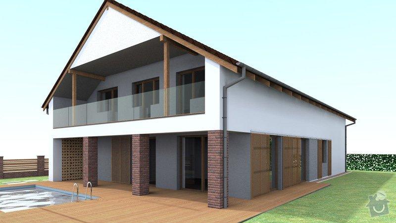 Dokončení střechy a štítů rod.domu ve fázi hrubé stavby: VC_2