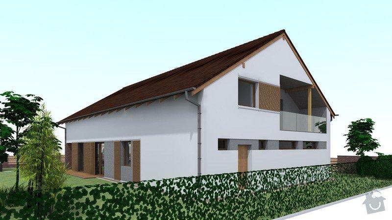Dokončení střechy a štítů rod.domu ve fázi hrubé stavby: VC_4