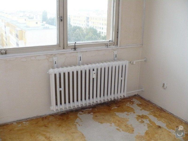 Výměna radiátorů v panelovém domě: Loznice_r