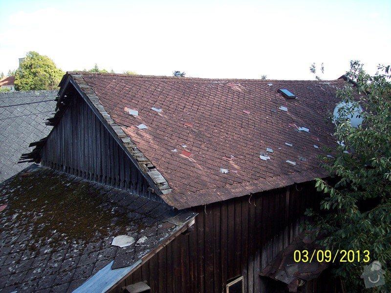 Pokrytí střechy dvou šophospodářských budov bonským šindelem 140m2: 100_5262