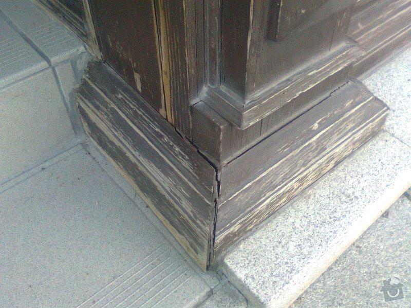 Oprava dřevěných výkladců a dveří: Fotografie0108