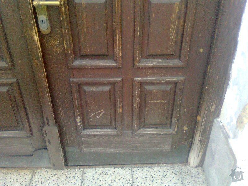 Oprava dřevěných výkladců a dveří: Fotografie0109