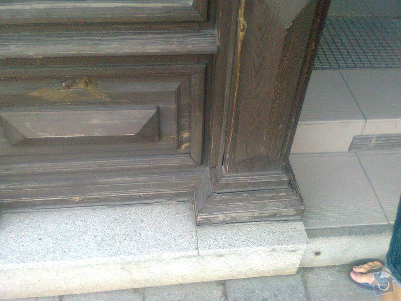 Oprava dřevěných výkladců a dveří: Fotografie0111